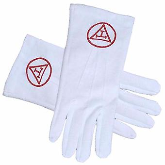 ROYAL ARCH-YORK RITE guantes masónicos RED TRIPLE TAU