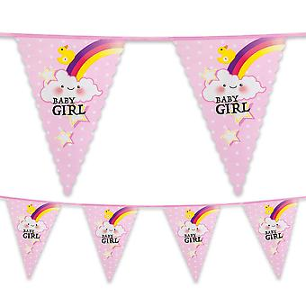 6 Metre Plastic Bunting Baby Girl New Birth