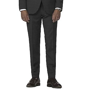 Gibson London Gibson London Charcoal Small Check Trousers