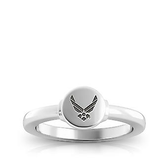 Us Air Force Gegraveerd Sterling Silver Signet Ring
