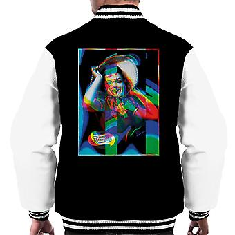 Pepsi Cola Beach Gal Glitch Art Men's Varsity Jacket