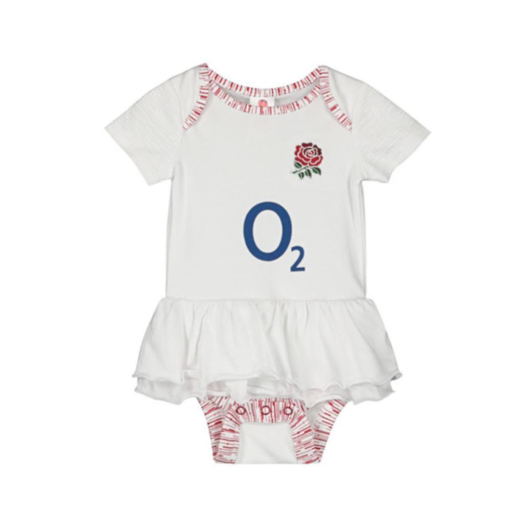 England RFU Baby Girls Tutu Bodysuit   White   2019/20 Season