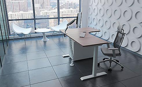 Flexispot E3LB L-Shaped Electric Corner Standing Desk Frame Electric Height Adjustable Desk