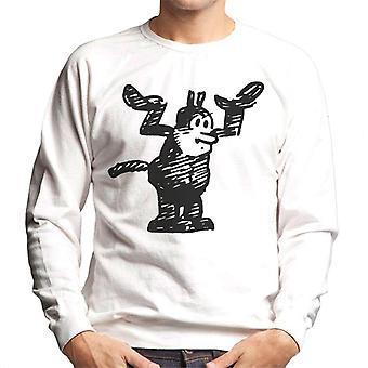 Krazy Kat hænder op mænds sweatshirt