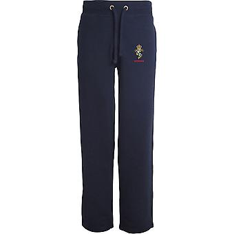 REME Royal Electrical Mechanical Engineers Veteran - Licensed British Army Embroidered Open Hem Sweatpants / Jogging Bottoms