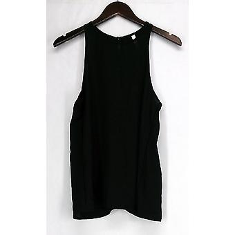 Lyss Loo Top S/M At First Crush Top Tank Keyhole Back Black Womens