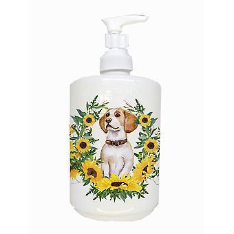 Carolines Treasures  CK2878SOAP Beagle Ceramic Soap Dispenser