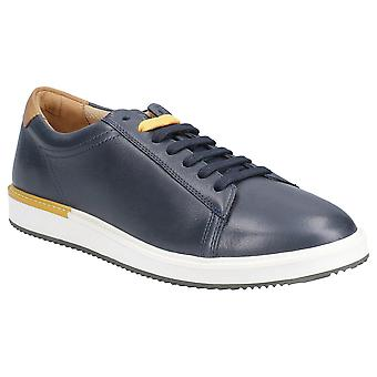 Hush Puppies Mens Heath Bounce Plus Leather Plimsolls Shoes