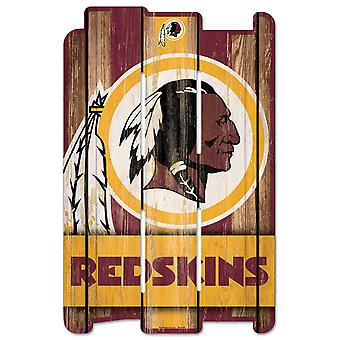 Sinal de madeira do sinal de madeira da prancha de wincraft-NFL Washington Redskin