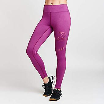 Beachbody Women's Fusion Wave 7/8 Tights, Plum Heather, Medium