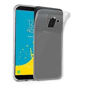Cadorabo Case voor Samsung Galaxy J6 2018 Case cover-mobiele telefoon geval gemaakt van flexibele TPU silicone-silicone geval beschermende case ultra slanke zachte terug Cover Case bumper
