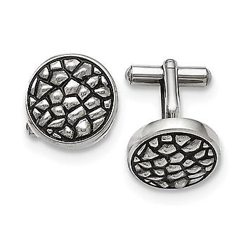 Stainless Steel Polished and Textured Cuff Links Jewelry Gifts for Men