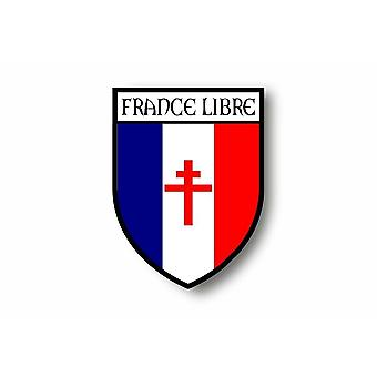 Sticker sticker auto moto Blason Ville vlag Frankrijk gratis de Gaulle