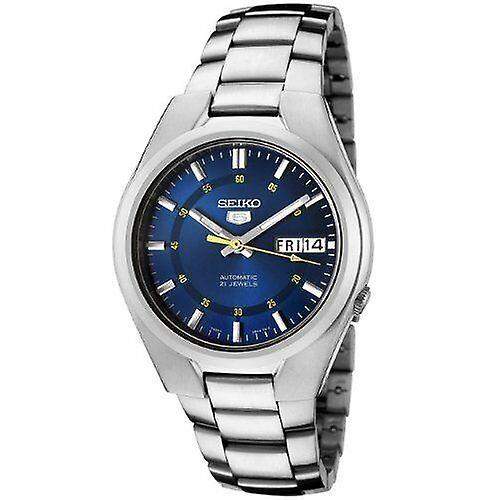 Seiko 5 Automatic Blue Dial Silver Stainless Steel Men's Watch