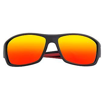Breed Aquarius Polarized Sunglasses - Black/Red-Yellow
