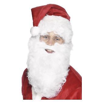 Branco barba Santa 28cm/11IN Natal fantasia vestido acessório