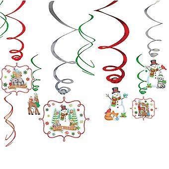 Amscan Winter Friends Swirls Christmas Decorations
