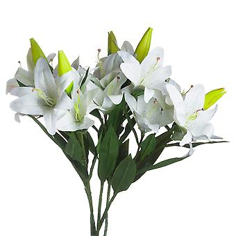 Hill Interiors White Lily Stem