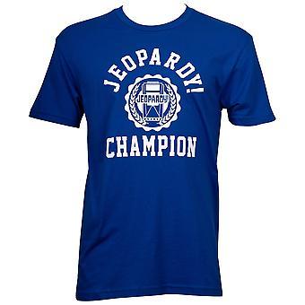 Gevaar voor kampioen mannen ' s blauw T-shirt