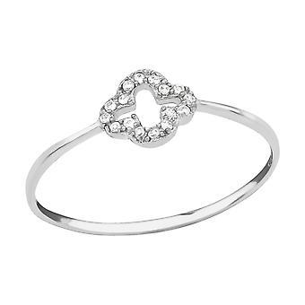 Flower - 925 Sterling Silver Jewelled Rings - W23429X