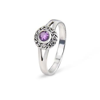 Celtic Eternity knuter ring-ametyst farge Stone