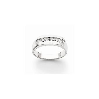 14k White Gold Solid Channel set Semi finished Not engraveable Diamond Mens Channel Band Ring Jewelry Gifts for Men
