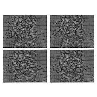 iStye Mock Croc Grey Faux Leather Placemats