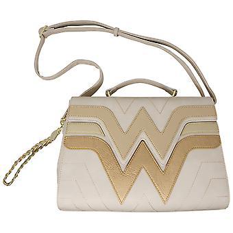 Wonder Woman Golden Faux Leather Crossbody Purse
