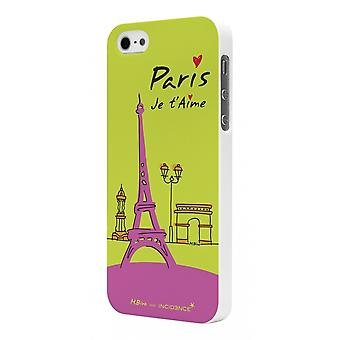 Shell Rubber White Incidence Model Paris Green For Apple IPhone 5