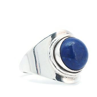 Anello Argento 925 Sterling Argento Lapis Lazuli Blu (KLE-RI-271)
