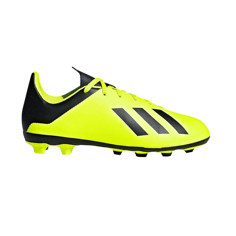 adidas X 18.4 FxG Firm Ground Kids Football Boot Yellow/Black
