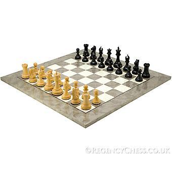 Sentinel Ebony og aske Burl luksus Chess Sett