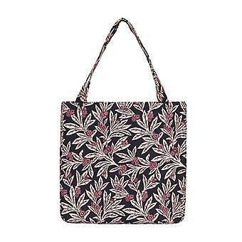 Golden fern shopper gusset bag by signare tapestry / guss-gfern