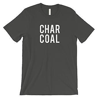 Charcoal Letters menns mørk grå T-skjorte