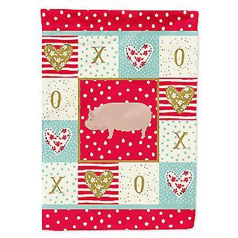 Carolines Treasures  CK5364GF Welsh Pig Love Flag Garden Size