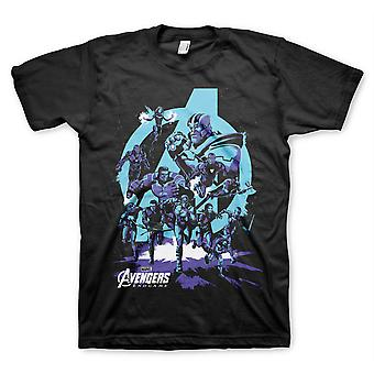 The Avengers slutspil Thanos Iron Man Hulk 1 officiel T-shirt