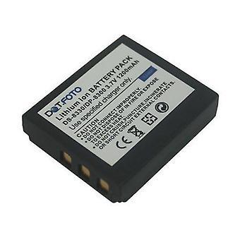 Hitachi 02491-0028-01, 02491-0054-02 bateria de substituição de Dot.Foto - 3.7 v / 1200mAh - 2 anos garantia - Hitachi DS-A651, HDC - 1051 H, HDC-1251EH, HDC-831EH, HDC-841/hein, HDC-851E
