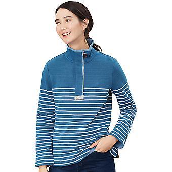 Joules Womens Saunton salt Soft Nautical klassisk sweatshirt