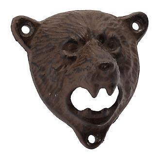 CGB Giftware Bear Head Cast Iron Bottle Opener