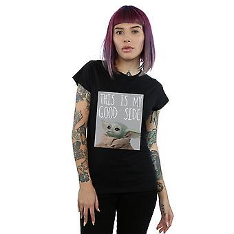 Star Wars Women's The Mandalorian The Child Good Side T-Shirt