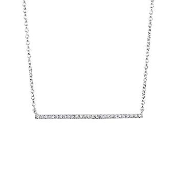 Sterling Silver 7-1.2mm White CZ Single Wing Anchor 1.2mm Cable Necklace Lobster Clasp 18 Inch