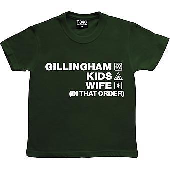 Gillingham Kids Wife (In That Order) Racing Green Kids' T-Shirt