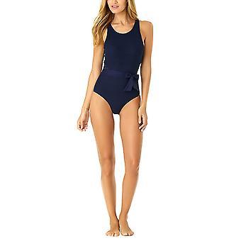 アンコール女性'sかぎ針編みのハイネックワンピース水着、黒、サイズ12.0