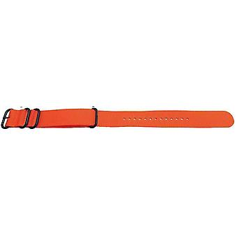 N.a.t.o zulu g10 style watch strap 4 ring orange with black buckle 18mm,20mm,22mm,24mm