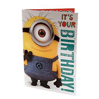 Avskyelig meg Minion musikalske bursdagskort