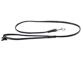 Collar Leather Strap  Necklace Glamour  (6mm width, length 122cm)