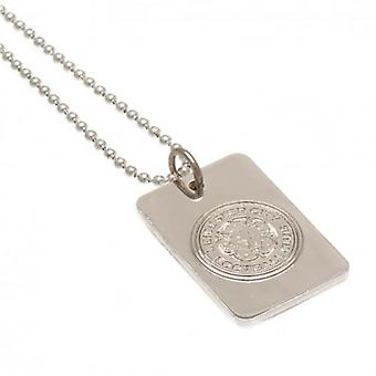Leicester City Silver Plated Pendant & Chain DT