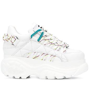1352-14 White Platform Sneakers