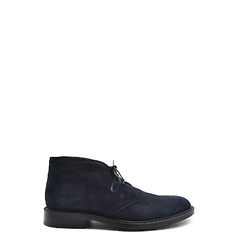 Tod's Ezbc025110 Men's Blue Suede Ankle Boots