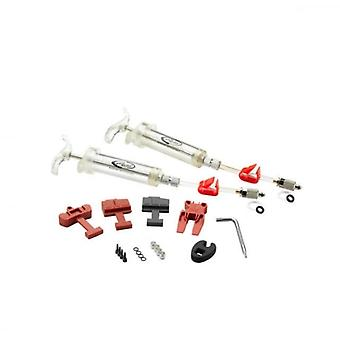 SRAM Spares Disc Brakes - Pro Brake Bleed Kit (includes 2 Syringes/fittings Bleed Blocks Torx Tool Crow's Foot Bleeding Edge Fitting) - X0/ Xx/ Guide/level/hydror